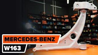 Cómo cambiar brazo superior delantero en MERCEDES-BENZ M W163 [INSTRUCCIÓN]