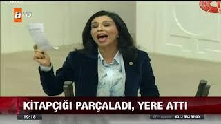 Chp'li Gülay Yedekçi bütçe kitabını parçaladı !