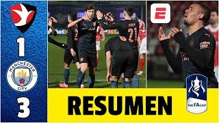 Cheltenham 1-3 Manchester City. Con dificultad, el City logró pasar a la siguiente ronda | FA Cup