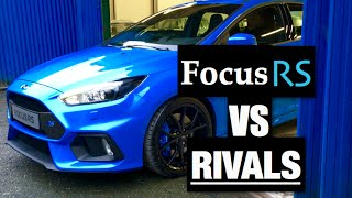 2016 Ford Focus RS vs Rivals Comparison - Inside Lane(The 2016 Ford Focus RS has to be one of the most anticipated cars of this year. The 345 BHP hot hatchback with all wheel drive can get from 0-62 MPH in just ..., 2016-01-18T09:54:21.000Z)