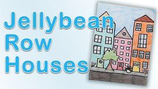 Art Exploration - Jellybean Row Houses Drawing