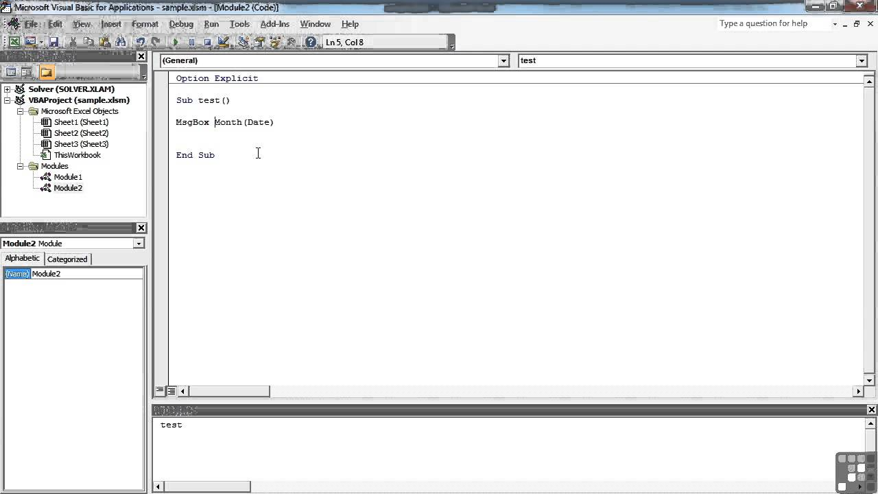 0602 Built In VBA Date Functions