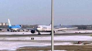 American Airlines 767-323 KORD 28C Crosswind Landing