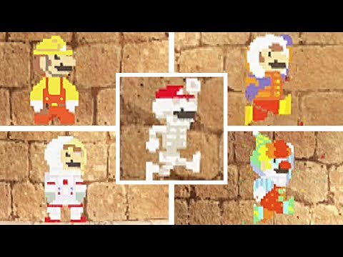 Super Mario Odyssey All Costumes In 8 Bit 2d Costumes Youtube