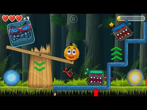 TELEPORTATION in RED BALL 4 : FAR SIDE OF MOON TO DEEP FOREST COVER ORANGE BALL SUPERPOWER