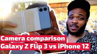 Samsung Galaxy Z Flip 3 vs iPhone 12 camera comparison