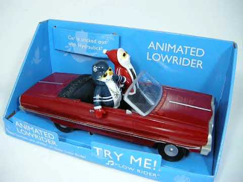 Gemmy Animated Low Rider Santa Claus And Snowman Muscle Car Ride
