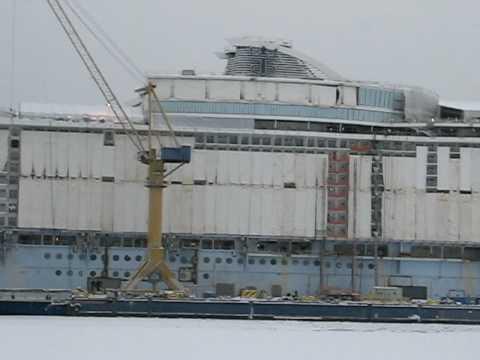 Allure of the Seas at STX Europe,Turku Finland 10.01.2010.AVI