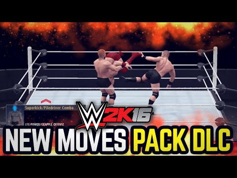 WWE 2K16 New Moves Pack DLC!! (ALL NEW MOVES!!)