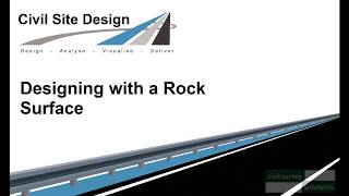 Civil Site Design - Designing with a Rock Surface