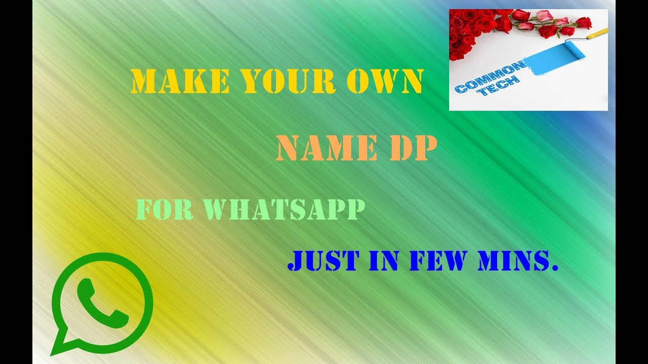 Make Your Own Name Dp For Whatsapp , Facebook , Instagram ...