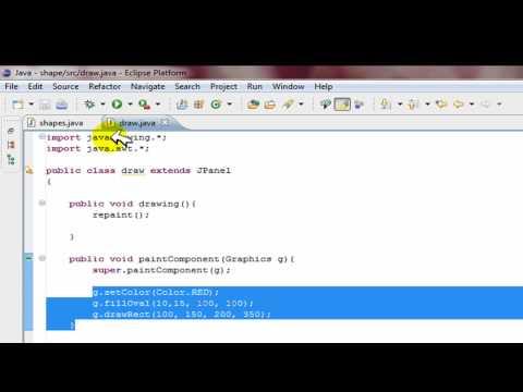 Java Swing Tutorial: MAKE SHAPES, GUI help: drawing graphics