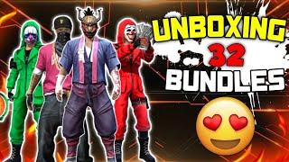 Unboxing 32 Bundles 😍  യാ മോനെ   Crude X Gaming  Freefire kerala 🇮🇳