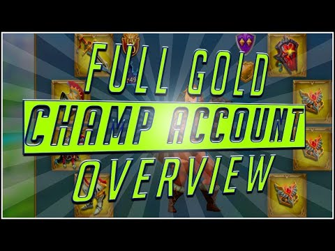 *FULL GOLD* CHAMP TITAN Account Overview (TmC Black ICE Sr) #LordsMobile