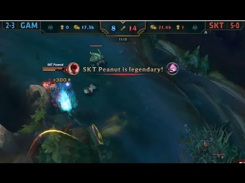 SKT Peanut going 14/0/1 in 12 minutes at MSI Group Stage vs GAM