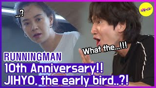 [HOT CLIPS] [RUNNINGMAN] Can't believe JIHYO is early..😱 (ENG SUB)