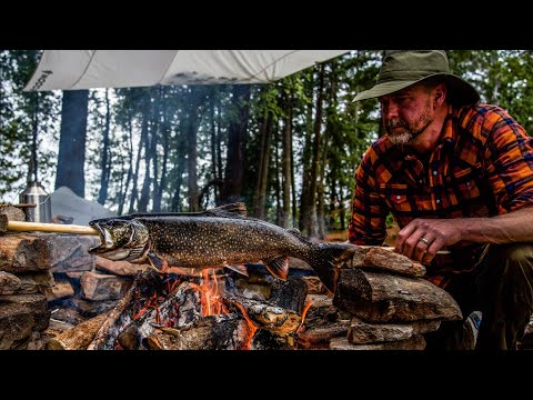 Bushcraft Catch And Cook / Trout Fishing In The Canadian Wilderness /Algonquin Park