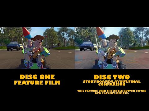 Toy Story (1995) - Split-screen Comparison: The Chase (Digital VS. 35mm) (1080p HD)