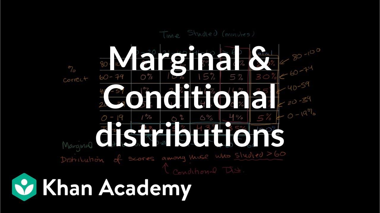 Marginal distribution and conditional distribution | AP Statistics | Khan  Academy
