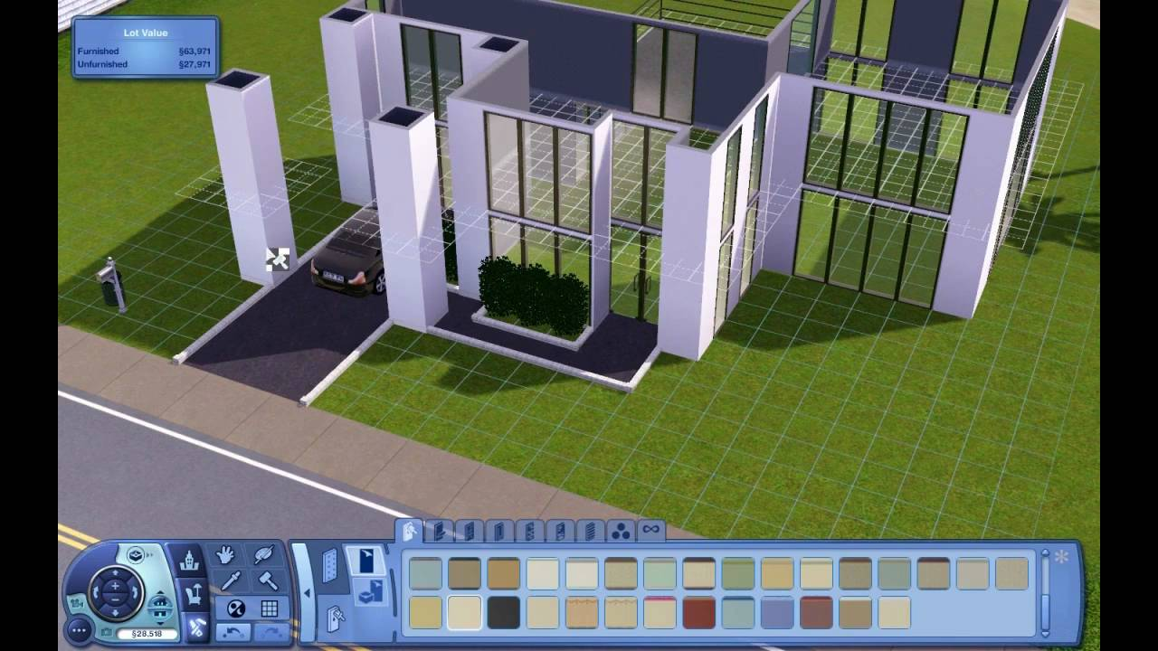 Sims 3 Creating A Modern Home Hd Youtube