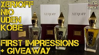 Xerjoff Nio, Uden, Kobe Unpackaging & First Impressions + Giveaway (CLOSED)
