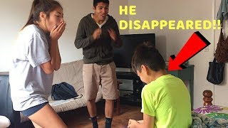 WE MAKE HIM THINK HE'S INVISIBLE PRANK!**ACTUALLY WORKED** MAGIC FOR HUMANS