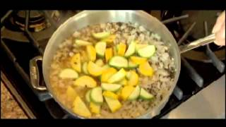 Pbs Short: Dr La Puma Chefmd Cooks toasted Barley Pilaf With Squash, Salsa And Feta Cheese