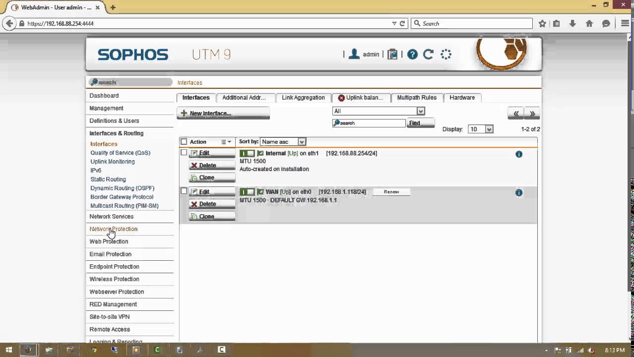 Perform a basic configuration Sophos UTM in 12 simple steps