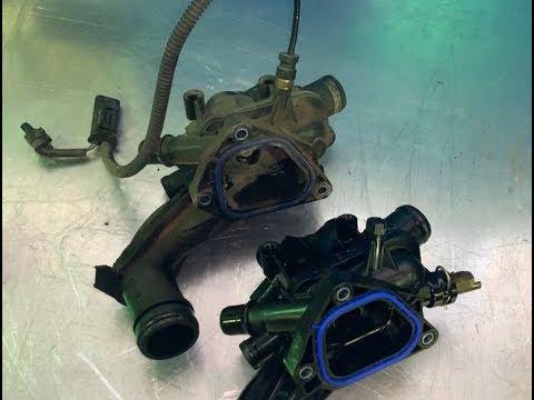 Пежо 408 и 308, замена термостата. Новый и старый термостат, зачем нужен жгут проводки.