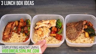 3 lunch box ideas(Visit www.videomealsonline.com for 100's of other quick simple and healthy recipes categorized for your convenience. Here is a way to prepare 3 lunch boxes at ..., 2015-05-12T02:55:57.000Z)