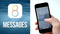 iOS 8 : MESSAGES - Réponse rapide, Dictée vocale et Partage rapide de photos & videos