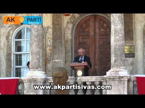 TBMM Başkanı Cemil Çiçek Ve Milli Savunma Bakanı İsmet Yılmaz Sivas'ta