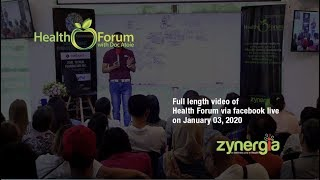 3 January 2020 | Health Forum via Facebook Live