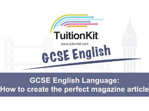 How to write a newspaper article gcse