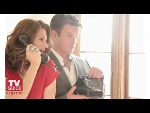 Castle Photo Shoot- Nathan Fillion and Stana Katic