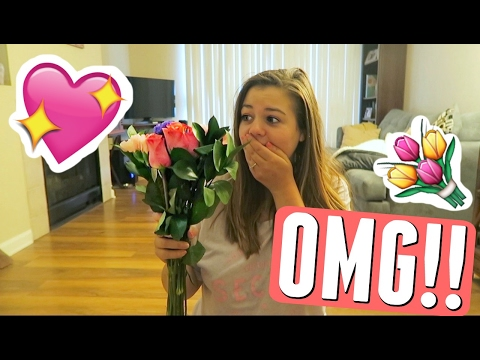 VALENTINES DAY SURPRISE! BOYFRIEND SURPRISES GIRLFRIEND WITH SWEETEST GIFT EVER + DATE NIGHT!