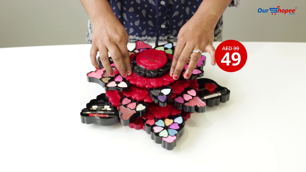 Make Up Kit Set Butterfly Design Beauty Face Treasure Art No 354