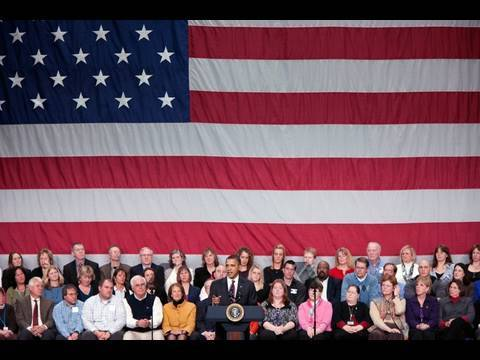 President Obama Holds a Town Hall in New Hampshire