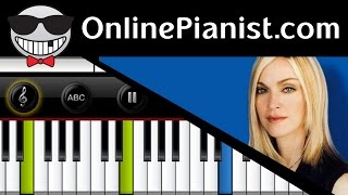 How to play Living For Love by Madonna - Piano Tutorial - Rebel Heart Album