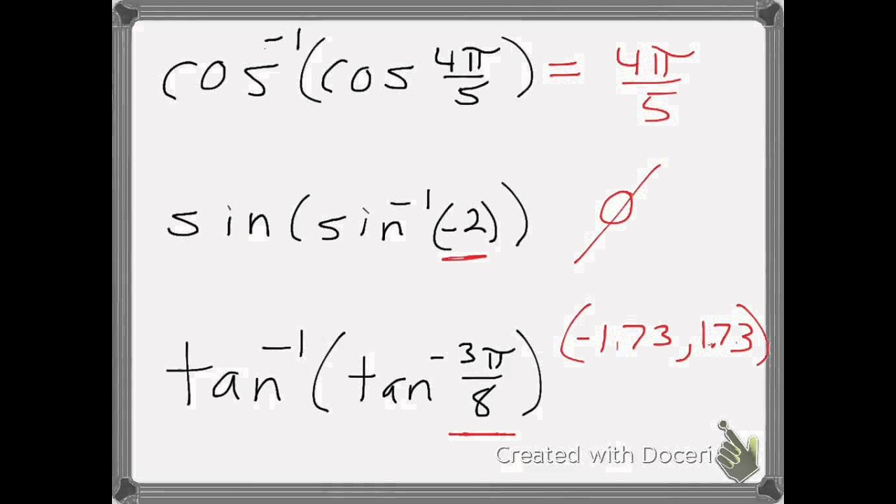 Chapter 4 6 Inverse Trig Functions - Lessons - Tes Teach