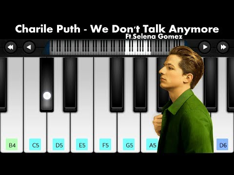 Charlie Puth - We Don't Talk Anymore Ft. Selena Gomez | Mobile Piano Tutorial By PianoLa