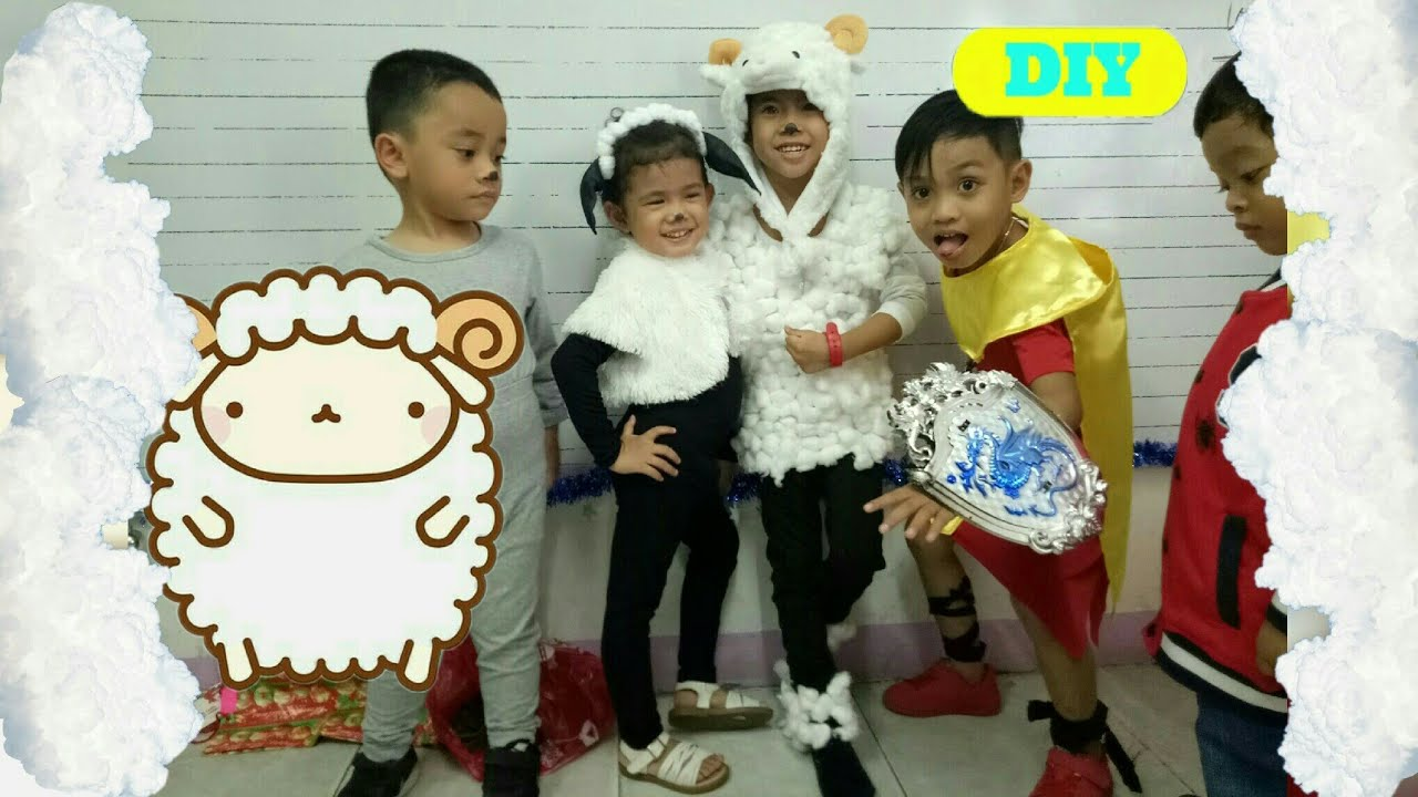 Diy Sheep Costume For Kids Youtube