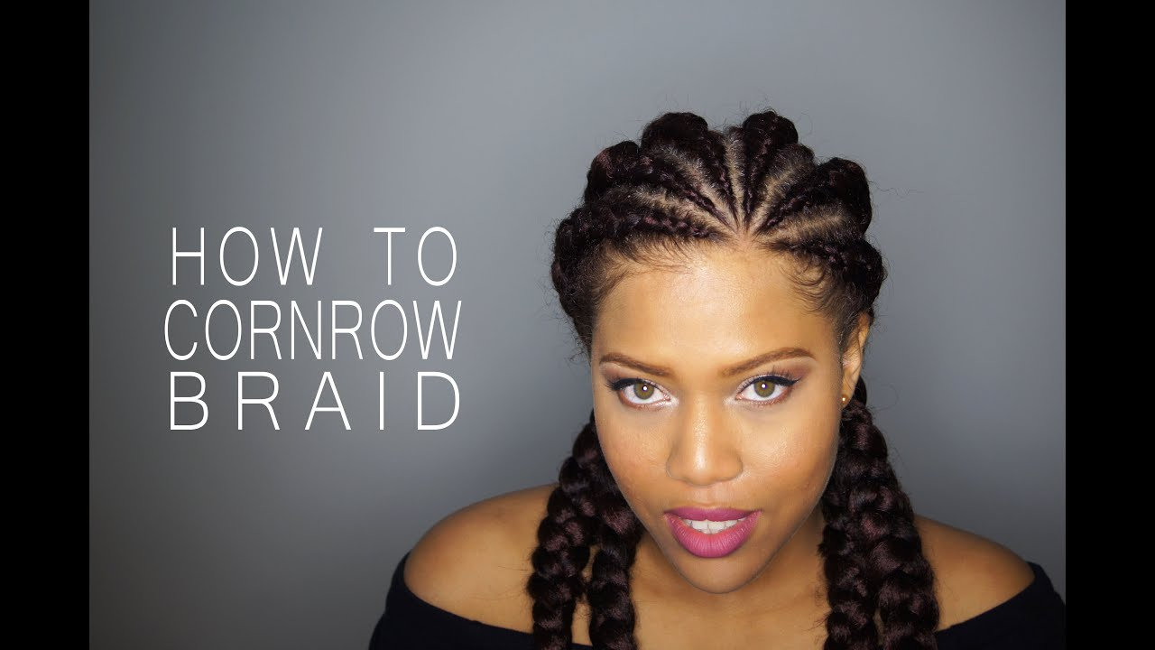How to cornrow or dutch braid your natural hair samantha how to cornrow or dutch braid your natural hair samantha pollack youtube urmus Images