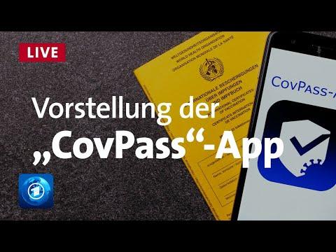 """Vorstellung des digitalen Impfnachweises """"CovPass"""" mit Bundesgesundheitsminister Spahn"""