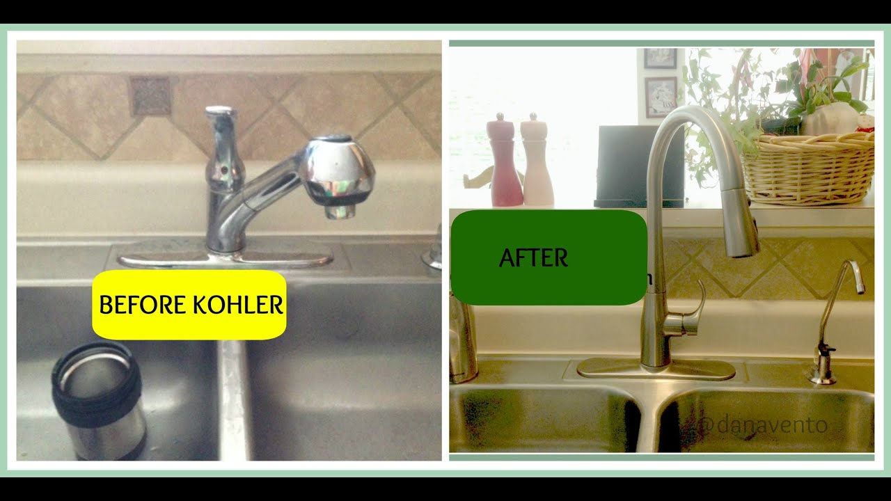 kohler simplice kitchen faucet spray simplice faucet install the kitchen with the bold look of kohler youtube