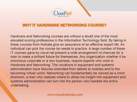 Hardware and Networking Training Course in Kolkata - Cloudnet