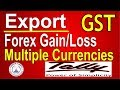 GST Export-Forex Gain Loss Adjustment in Tally ERP 9 Part-51|Tally GST Export Multiple Currencies