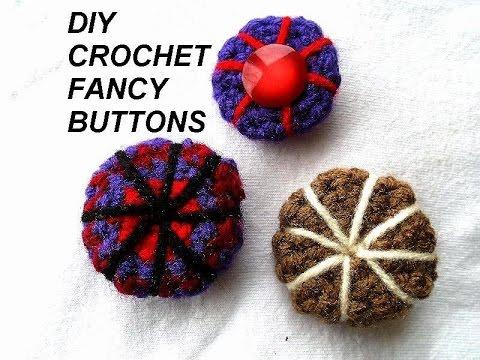 diy crochet 3 fancy buttons, crochet pattern,