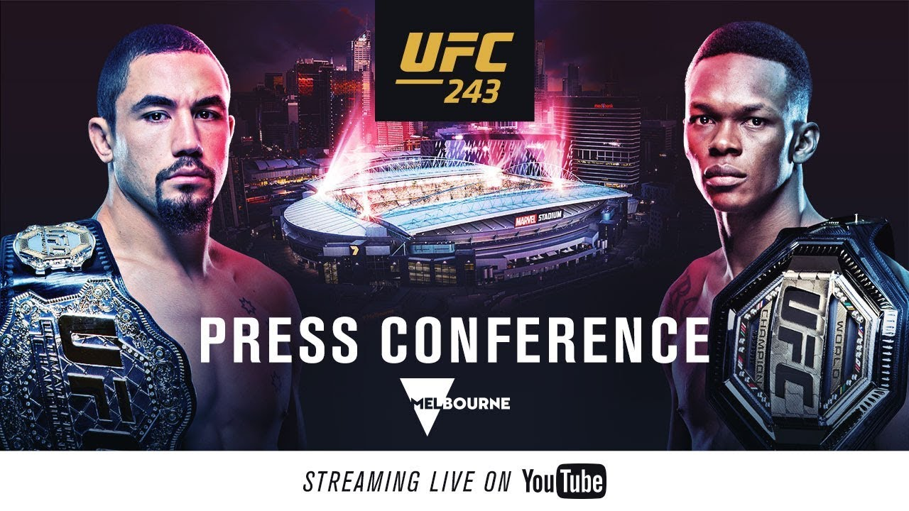 UFC 243: Date, Time, TV And Live Stream