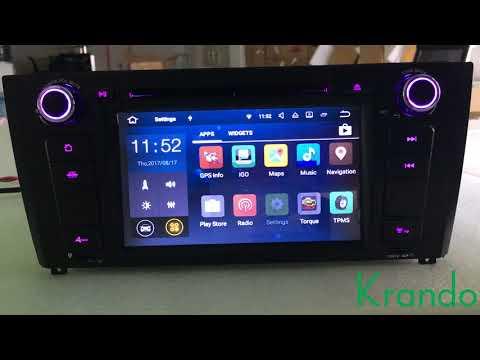 Krando android 7.1 car radio for bmw 1 series E81 E82 E87 E88 navigation with gps wifi RDS OBD2